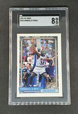 Shaquille O'Neal 1992-93 Topps Rookie Card #362 SGC 8 Shaq Magic
