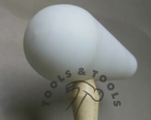 """QUALITY DOMED TEFLON HAMMER 5"""" PEAR HEAD MALLET FORMING DAPPING SHAPING REPOUSSE"""