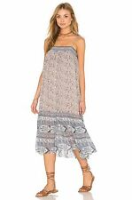 Ulla Johnson NWT Smocked Neckline Shoulder Ties Imane Midi Silk Dress 4