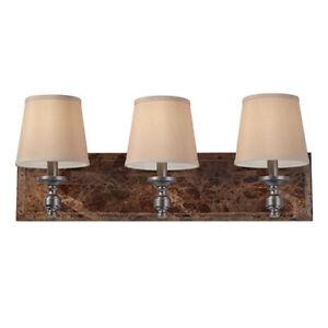 Murray Feiss VS34003-PORB Carrollton 3 Light Vanity, Plated Oil Rubbed Bronze