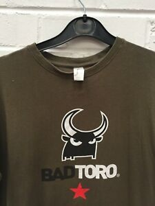 Bad Toro Green T-Shirt Short Sleeve 100% Cotton Size Small #CE GA-2005