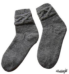 Wollsocken Strick Nepal Warme Wollsocken Handgestrickte Socken Wolle Schaf