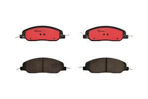 Brembo Front NAO Ceramic Slotted Brake Pad Set For Ford Mustang Base Shelby GT