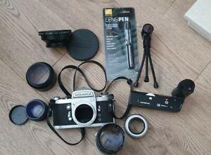 Vintage Miranda G Camera with Lenses Accessories & Bag