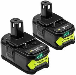 2X 18V 5.0AH Pour Ryobi One+ Plus P108 Lithium-ion Batterie RB18L50 P104 RB18L40