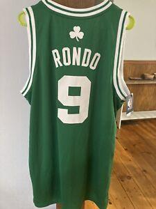 Rajon Rondo Boston Celtics Adidas Authentic NBA Swingman Jersey L BNWT MINT