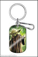 Star Wars Yoda Jedi Master Enamel & Metal Dog Tag Key Chain Keychain Zipper Pull