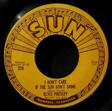 ELVIS PRESLEY-Good Rockin' Tonight & I Don't Care If The Sun-Reissue 45-SUN #210