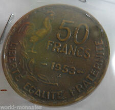 50 francs guiraud 1953 B : TB : pièce de monnaie française
