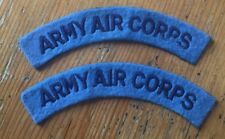 2 x Army Air Corps Shoulder Titles - Pair - Repro WWII Patches BRITISH