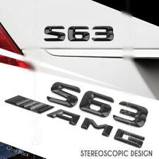 S63 AMG W222 Emblem Glänzend schwarz Zeichen aufkleber Schriftzug Mercedes Benz