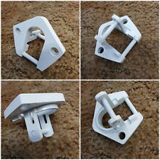 NEW DOMETIC SUNCHASER II RV AWNING PART BOTTOM FOOT FITS ROUNDED HARDWARE WHITE