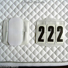 Saddlecloth Number Holders Show Competition Numbers Touch-Tape Sold in Pairs