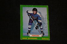 DAVE BURROWS 1973-74 O-PEE-CHEE SIGNED AUTOGRAPHED CARD #140 PENGUINS