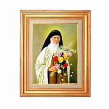 Gold Leaf Frame 10x13 in Vintage Saint Teresa of Avila #RC-601-PI-COMO#