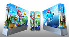 Skin Sticker Cover For Nintendo Wii Console and 2 Remotes Super Mario Galaxy 219