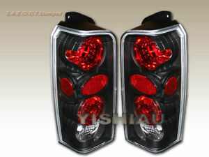 1997-2001 Jeep Cherokee TailLights Lamps JDM Black  New