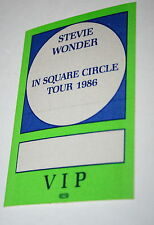 Stevie Wonder In Square Circle Tour 1986 Concert VIP Stage Pass Otto Mint Green