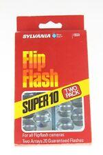 Sylvania Flip Flash Super 10 Blue Dot Flashbulbs Flashbar 2 Pack (NEW OLD STOCK)
