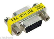 15-pin HD15 VGA/SVGA Female F/F Gender Changer Converter Adapter Coupler HD15F
