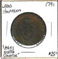 Conder Token - Leeds Halfpenny 1791