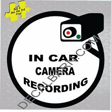 Taxi Limo Bus In Car Camera Recording Decal Sticker video surveillance P133
