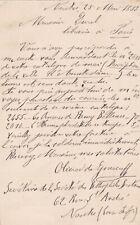 ✒ L.A.S. Olivier de GOURCUFF écrivain bibliophile au libraire Adolphe DUREL