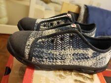 size 10 childrens pumps shoes blue grey BNIB superfit