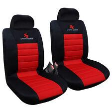 Housse de siège universelle en polyester couvre siège Noir Rouge FAS7257-2