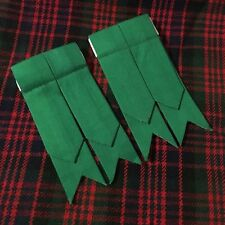 Men's Scottish Kilt Sock Flashes Plain Green/Kilt Hose Flashes/kilt Flashes