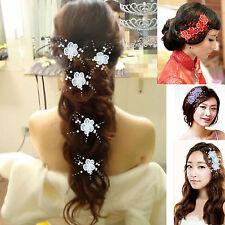 4 styles a set Plum flower Bridal Wedding Pearl Hair Pins Clip  Hair Accessories