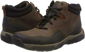 Clarks Mens Walbeck Top 2 Brown Leather Rugged Walking Boots, UK 9 G