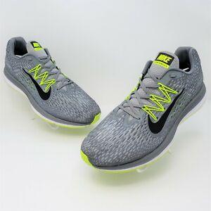 Nike Zoom Winflo 5 Mens Grey Neon Green Athletic Shoes Size US 14 AV8011-011