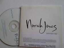 Norah Jones – Don't Know Why Parlophone NORAH004 UK Promo CD Single