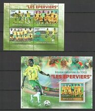 TG1223 2010 TOGO SPORT FOOTBALL NATIONAL TEAM LES EPERVIERS BL+KB MNH