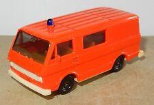 HERPA HO 1/87 VW  VOLKSAWAGEN LT 28 KOMBI COMBI ROSE FLUO SECOURS ROUTIER