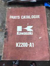 Kawasaki Parts Catalog Manual 1977 KZ200 A1
