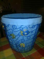 FISH waste laundry basket nautical bathroom decor lake cottage summer home NEW