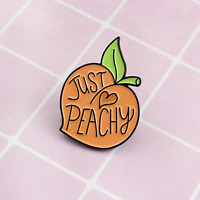 ** CUTE PEACH PRETTY JUST PEACHY FRUIT BROACH BIRTHDAY THINKING OF YOU GIFT**