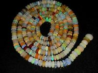"Natural Ethiopion Opal Beads Gemstone Plain Smooth Rondelle 1 Strand 16"" 3X6 MM"