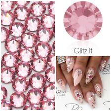 Swarovski x 50 MIXED SIZE Light Rose Pink GLUE ON Crystals Rhinestones Nail Art