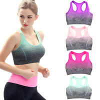 Women Sport Bra Running Gym Yoga Padded Fitness Tank Stretch Workout Underwear N