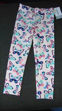 Carter's Cotton Rich 'Butterflies' Leggings 2yrs 90cm Pale Pink Mix BNWT