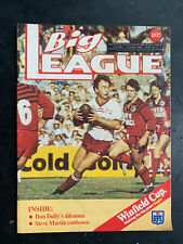 BIG LEAGUE Magazine 1983 V. 64 #12 Illawarra poster NSWRL NRL footy mag 80s