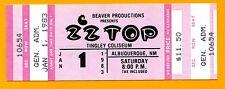 Zz Top 1983 Unused Concert Ticket; New Years Day Concert; 1/1/83; Comp Ticket Ex