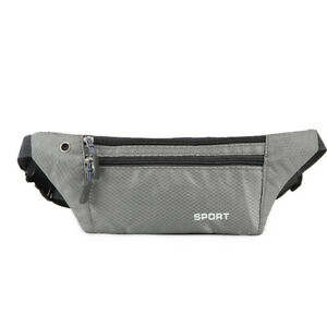 Running Belt Waist Pack Bag Nylon Waterproof Sport Fitness Phone Pouch Zipper