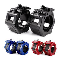 "2"" Locking Barbell Spinlock Collars Clamp Dumbbell Bar Lifting 3 Colors"