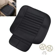 Schwarz Sitzauflage Sitzbezüge Sitzmatte PU Leder Bambus Kohle Universal Auto
