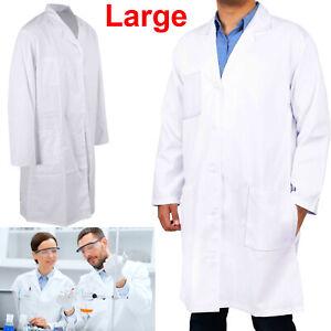 Unisex White Lab Coat Scientist Medical Doctor Dress Warehouse Doctors Costume