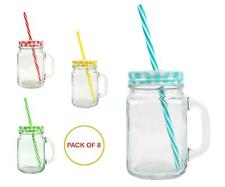 Kikkerland Smoothie Rezept Glas ToGo Becher m Strohhalm Shake Maker Green Detox